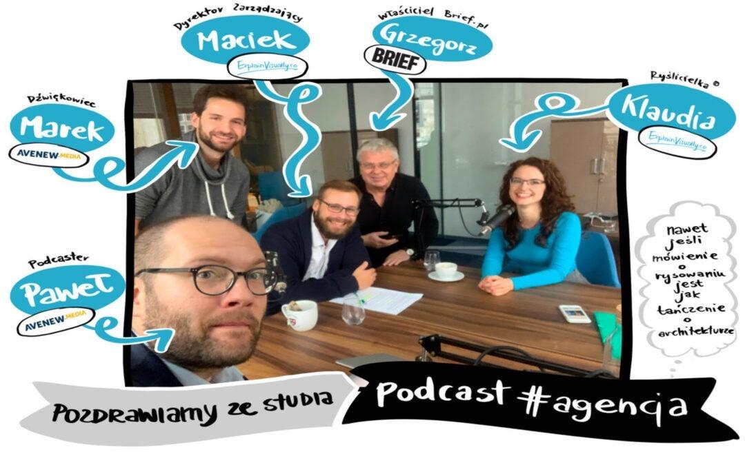 Maciej Budkowski i Klaudia Tolman w podcaście #agencja